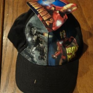 Iron Man 2 Hero Post Snapback Cap 2010 NWT